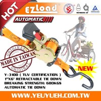 [EZ LOAD] Hot Tricycle Retractable Cargo Lashing Ratchet Tie Down