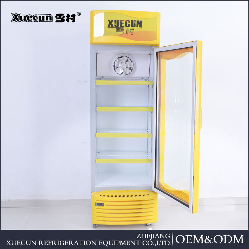 Hot selling Slim air-cooled Upright display showcase freezer