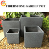 Fiber Clay Square Pot for Plant Planter