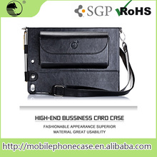 High-end Business Genuine Leather Tablet Case For iPad 6 with a shoulder strap