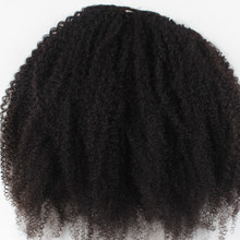 full head thick 220g indian cheap 100% virgin remy human black hair afro kinky curly clip in hair extensions