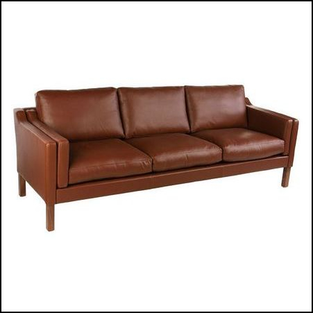 Borge Mogensen 3s leather sofa
