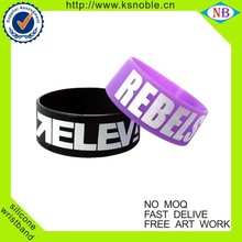 Make your own design wide wristband custom silicone bracelet with logo