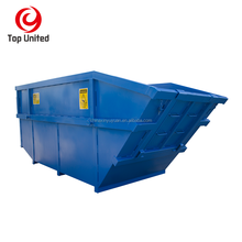 OEM Q235 outdoor dumpster gantry skip bin with forklift for garbage waste recycle in china factory