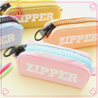 Most popular korean office & school supplies polyester pen bag cartoon cute stationery bag