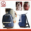 Trendy sweet college navy canvas lace backpack