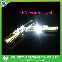 Personalized Good Led Lighted Eyebrow Tweezer With Mirror