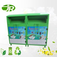 Metal Donation Container Large Clothes Recycling Bin with Customized color