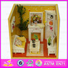 wholesale cheap pretend play miniature wooden diy doll room for baby WJ278623