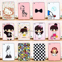 Cute Cartoon Premium Hybrid Frame Rubber Case Cover For iPad Mini 1 / Mini 2