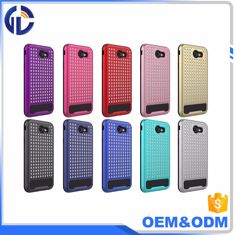 new products on china market phone cover case Diamond Hybrid Combo Phone Case For Samsung Galaxy J7 2017