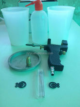 Portable inner mix spray gun