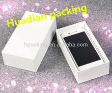 Branded White Cell Phone Box Domestic Mobile Phone Packing Box