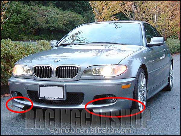 FRONT LIP SPOILER SPLITTERS FIT FOR BMW 3-SERIES E46 M-TECH 2D 4D B013F
