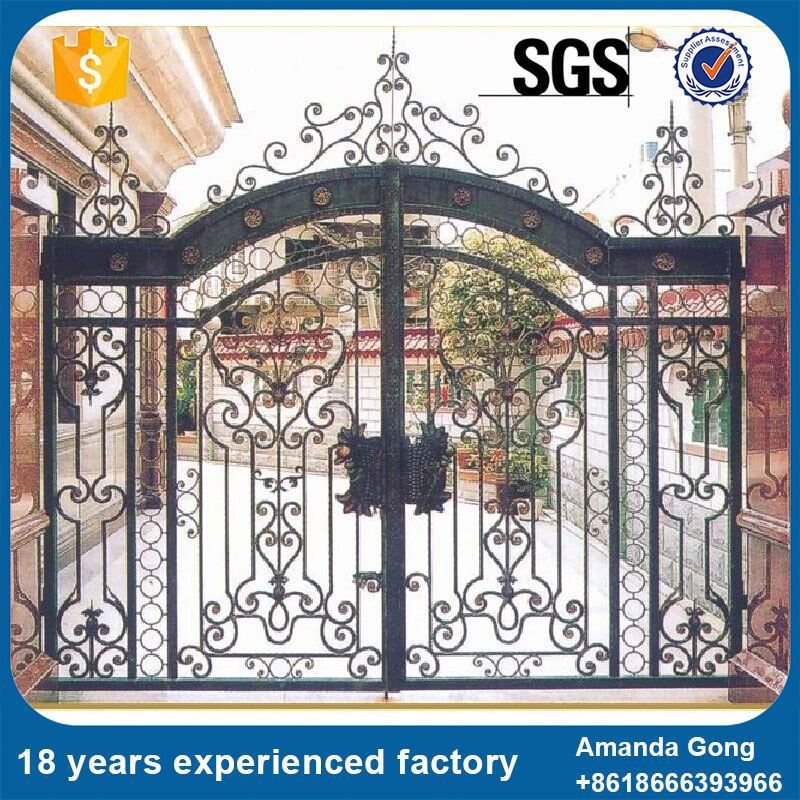 Premium quality new hot wrought iron gate catalog design