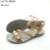 New greyish pearls faux lady pu flat sandals