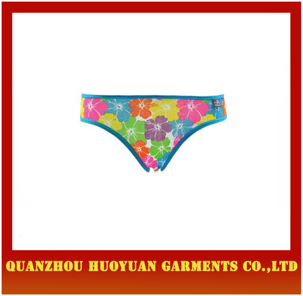 Cartoon bunny waist stripe cotton children's underwear children thongs underwear