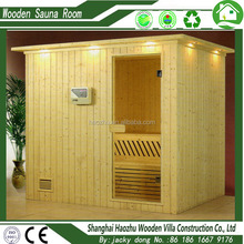Top selling 3 person freestanding traditonal sauna steam room