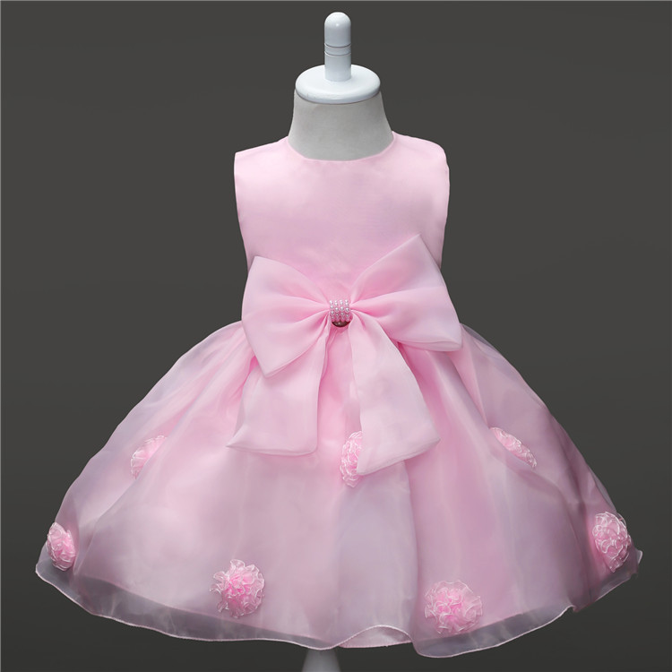 Multicolor Flower Lace Baby Girl Wedding Dresses
