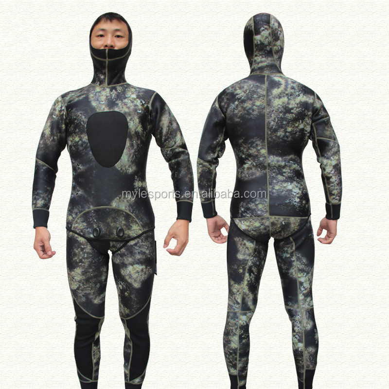 Wholesale 3MM CAMO Neoprene Full Body Spearfishing Diving Suit Wetsuit Diving Suit Surfing suit