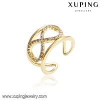 14746 xuping new fashion jewelry 14k gold beautiful adjustable wedding diamond engagement rings