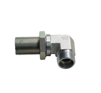 Factory supply 90 deg elbow bulkhead hydraulic pipe fitting 6C9