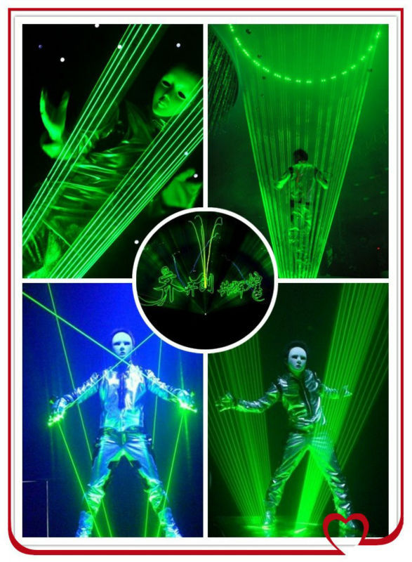 single Green laserman show /2w,3w,4w,5w laser dance equipments/laser gloves for sale