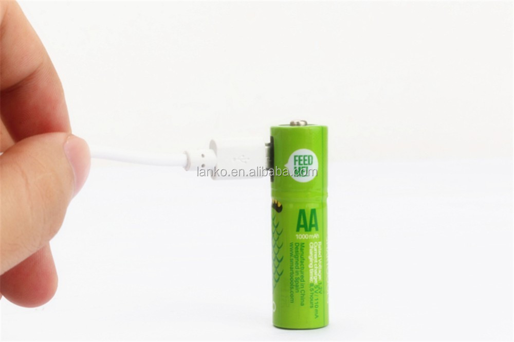 Promotional Hot AA 1.2V USB battery rechargeable battery for toy car,rechargeable AA usb battery for electronics