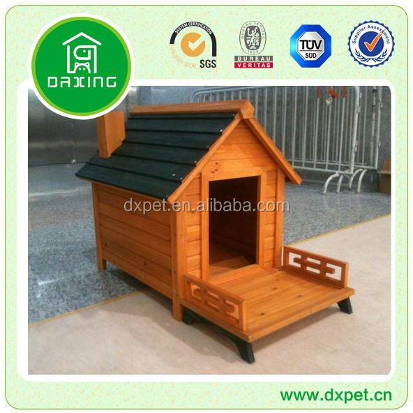 DXDH009 Outdoor water proof Wooden Dog Kennel with bitumen roof