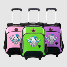 Hot sale cheap high quality double shoulder hard shell kids trolley school bag