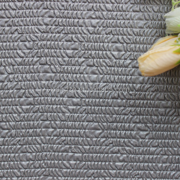 Classical style velvet weaving perforated leather fabric for shoes