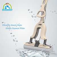 BOOMJOY HOT SALE QUICK CLEAN TELESCOPIC MICROFIBER SPONGE PVA MOP WITH SUPER WATER ABSORPTION