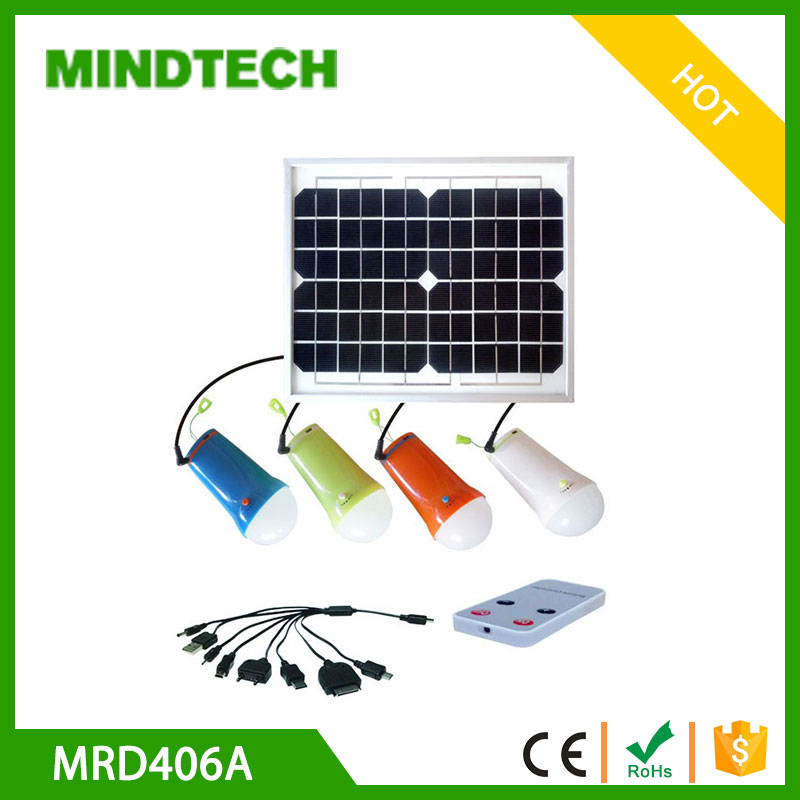 Solar panel in solar energy systems LED lamp with remote controller