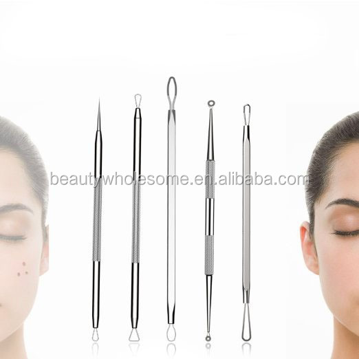 comedone extractors blackhead remover pimple acne with mirror EH107 blackhead remover case with mirror