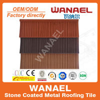Economic anti-UV high quality Stone-coated steel roof tile/cool roof