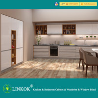 Linkok Furniture new acrylic kitchen cabinet high material assured from guangzhou furniture