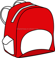 Red cartoon Lovely school backpack bag
