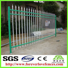 Cheap wrought iron fence panels for sale / galvanized house gate design iron tube fence