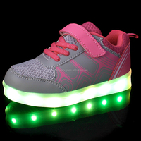 New Arrival USB Charging Led Light Sport Shoes and Sneakers 2016 Light Up Shoes Kids for Boy Girl Shoes