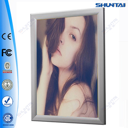 aluminum display LED lighted poster frames snap frame