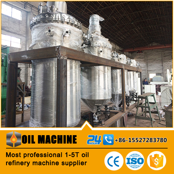 Best quality oil refinery supplier refined soybean oil machine oil processing production line