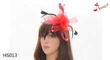 new style ladies fashion part hat hair clip fascinator with feather