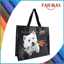 PET non woven bag with sublimed printed logo
