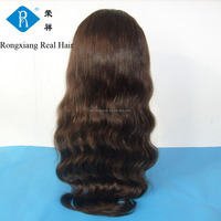Cheap wholesale price 100% human indian remy gray hair full lace wig