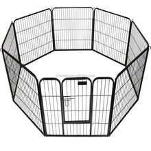 6panels black pvc coated square tube welded dog playpen,dog cages & houses