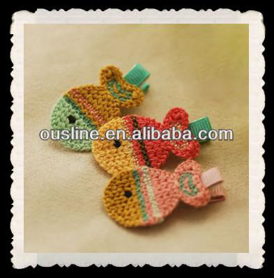 Pinzas para el cabello de ganchillo crochet ni os for Decoraciones para el pelo