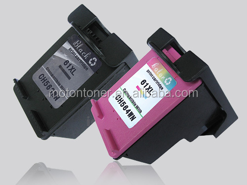 Remanufactured inkjet cartridge for HP 61XL CH563W CH564W color inkjet with premium quality