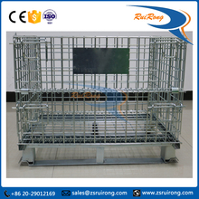 movable collapsible self storage wire mesh roll container/stillages