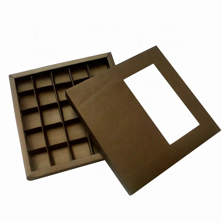 Luxury Soft Touch Smooth Dividers Cardboard Paper Packaging Sweet Chocolate Gift Box