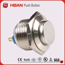 19mm stainless steel waterproof push button switch normally close 1NC push off switch
